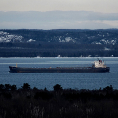"""Barge on Lake Superior • <a style=""""font-size:0.8em;"""" href=""""http://www.flickr.com/photos/111317728@N08/11681982254/"""" target=""""_blank"""">View on Flickr</a>"""